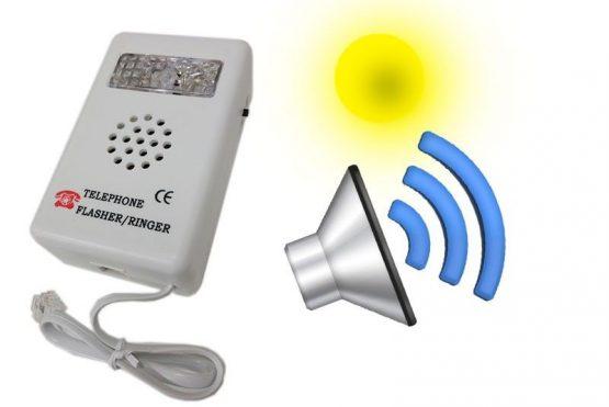 Avisador telefónico de llamada por luz o sonido