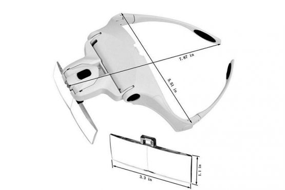 Lupa Magnifying Glass con Led 5