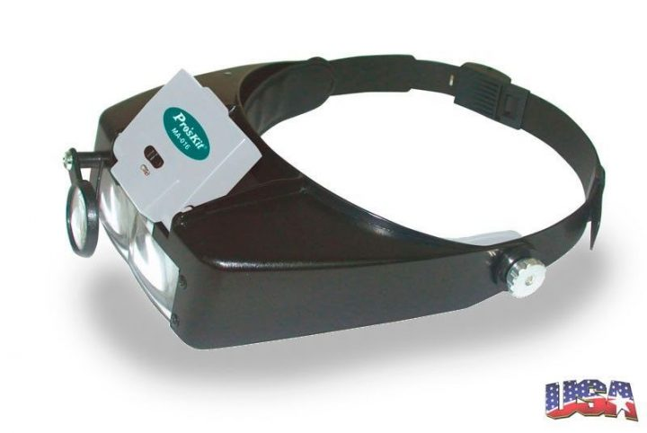 Lupa Diadema para Electronica Led -Low Cost -