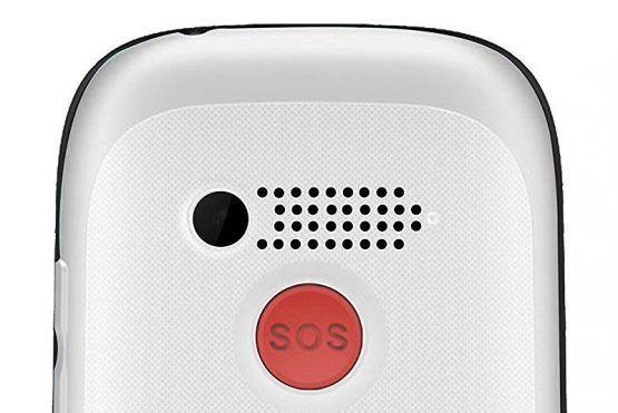 Para personas mayores con botón SOS y base cargadora