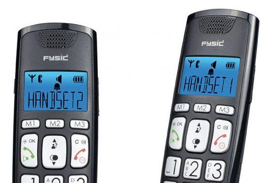TELF091 - Dúo de teléfonos inalámbricos digitales con teclas grandes